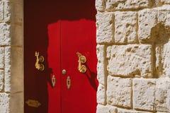 Traditionele Maltese deur Royalty-vrije Stock Afbeeldingen