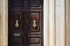 Traditionele Maltese deur Royalty-vrije Stock Foto