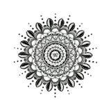 Traditionele Mandala Line Art Hindu Symbol royalty-vrije illustratie