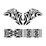 Traditionele Maori Taniwha-tatoegering stock illustratie