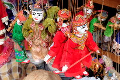 Traditionele Marionetmarionetten van Myanmar (Birma) Stock Foto