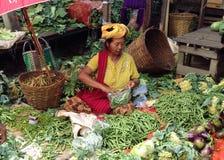 Traditionele markt, Myanmar Royalty-vrije Stock Foto's