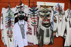 Traditionele Markt in Vatra Dornei, Bucovina-gebied roemenië royalty-vrije stock foto's