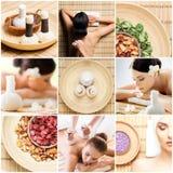 Traditionele massage en gezondheidszorgbehandeling in kuuroord Jonge, mooie en gezonde meisjes die recreatietherapie hebben Royalty-vrije Stock Fotografie