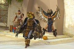 Traditionele Mayan dans, Caraïbisch Mexico, stock fotografie