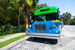 Traditionele Mexicaanse Bus Stock Afbeeldingen