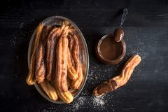 Traditionele Mexicaanse dessertchurros Stock Fotografie