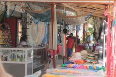 Traditionele Mexicaanse markt in Tulum royalty-vrije stock foto's