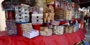 Traditionele Mexicaanse suikergoed steet opslag royalty-vrije stock afbeelding
