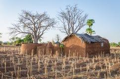Traditionele modder een kleihuisvesting van de Tata Somba-stam van noordelijke Benin en Togo, Afrika royalty-vrije stock afbeeldingen