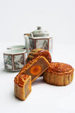 Traditionele Mooncake Royalty-vrije Stock Foto's