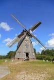Traditionele Nederlandse windmolen - Duitsland, Usedom, Benz Royalty-vrije Stock Foto's