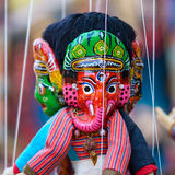 Traditionele Nepalese marionet Royalty-vrije Stock Fotografie