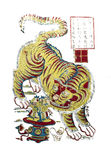 Traditionele Nieuwjaarbeelden - de tijger Royalty-vrije Stock Afbeeldingen
