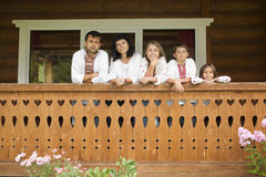Traditionele Oekraïense familie Stock Fotografie