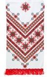 Traditionele Oekraïense geborduurde handdoek Stock Afbeeldingen