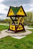 Traditionele Oekraïense houten goed royalty-vrije stock fotografie