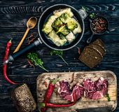Traditionele Oekraïense maaltijd genoemd golubtsi Royalty-vrije Stock Foto's