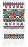 Traditionele Oekraïense geborduurde handdoek Stock Fotografie