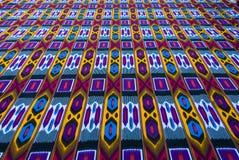 Traditionele Oezbekistaanse textiel vector illustratie