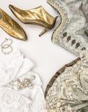 Traditionele Oktoberfest-kleding dirndl Duitse maniervulling royalty-vrije stock foto's