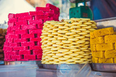 Traditionele oosterse snoepjes Kuala Lumpur, Maleisië royalty-vrije stock foto