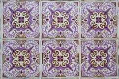Traditionele overladen Portugese decoratieve tegels royalty-vrije stock afbeeldingen