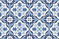 Traditionele overladen Portugese tegelsazulejos Vector illustratie Stock Foto