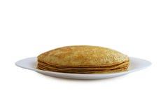 Traditionele pannekoeken - Russische blini Royalty-vrije Stock Afbeelding