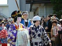 Traditionele parade van geisha's, Niiagata, Tokyo Stock Foto