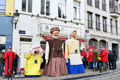 Traditionele Parade van Saint Nicolas in Brussel Royalty-vrije Stock Afbeelding
