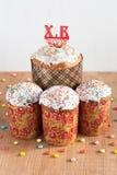 Traditionele Pasen-cakes op de lijst Royalty-vrije Stock Foto