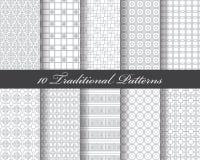 10 traditionele patronen vector illustratie