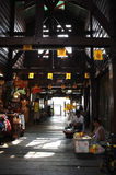 Traditionele pijlermarkt in Thailand Royalty-vrije Stock Foto's