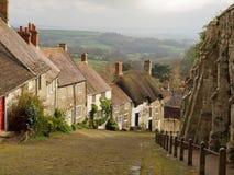 Traditionele Plattelandshuisjes in Shaftesbury, Engeland Stock Afbeelding