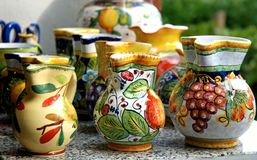 Traditionele potten stock afbeelding