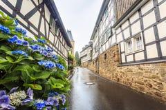 Traditionele Pruisische muur in architectuur in Duitsland stock afbeelding