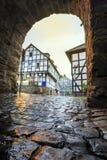 Traditionele Pruisische muur in architectuur in Duitsland stock foto's