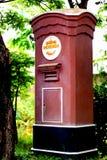 Traditionele rode postbox in Thailand Royalty-vrije Stock Afbeeldingen