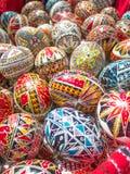 Traditionele Roemeen handcrafted keurig verfraaide paaseieren Royalty-vrije Stock Fotografie