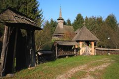 Traditionele Roemeense architectuur Royalty-vrije Stock Foto's