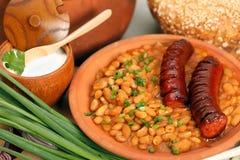 Traditionele Roemeense eettafel royalty-vrije stock foto's