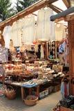 Traditionele Roemeense kunst en ambachtmarkt stock afbeeldingen