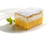 Traditionele roomcake van Slovenië stock fotografie