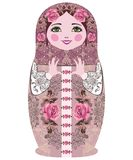 Traditionele Russische matryoshka (matrioshka) poppen. Stock Foto's