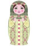 Traditionele Russische matryoshka (matrioshka) poppen. Stock Afbeeldingen