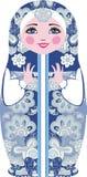 Traditionele Russische matryoshka (matrioshka) poppen, in nationaal stijlkostuum Stock Afbeeldingen