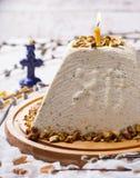 Traditionele Russische Orthodoxe Pasen-Desserts Stock Foto