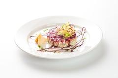 Traditionele Russische salade Royalty-vrije Stock Afbeeldingen
