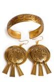 Traditionele Russische Vrouwelijke Juwelen Stock Foto
